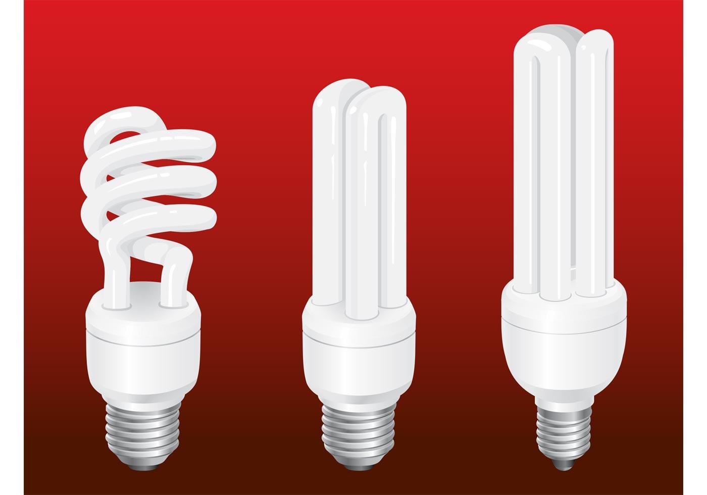 Energy Saving Bulbs Download Free Vector Art Stock
