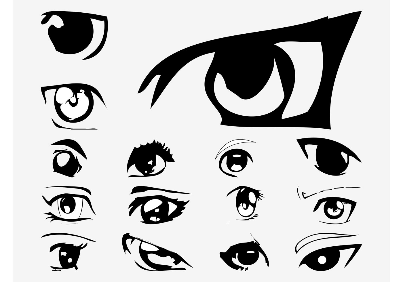 Vector Anime Eyes
