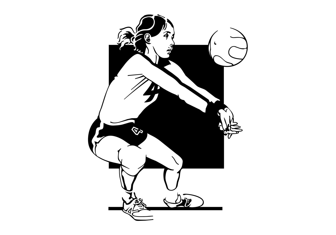 Volleyball Net Free Vector Art