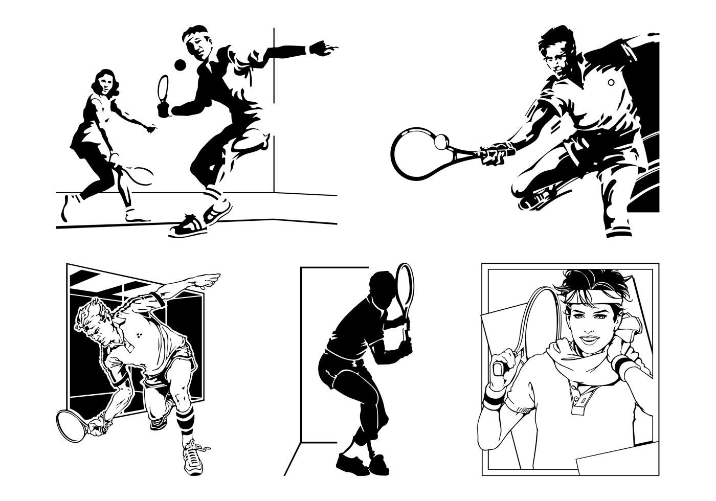 Vector Tennis Players