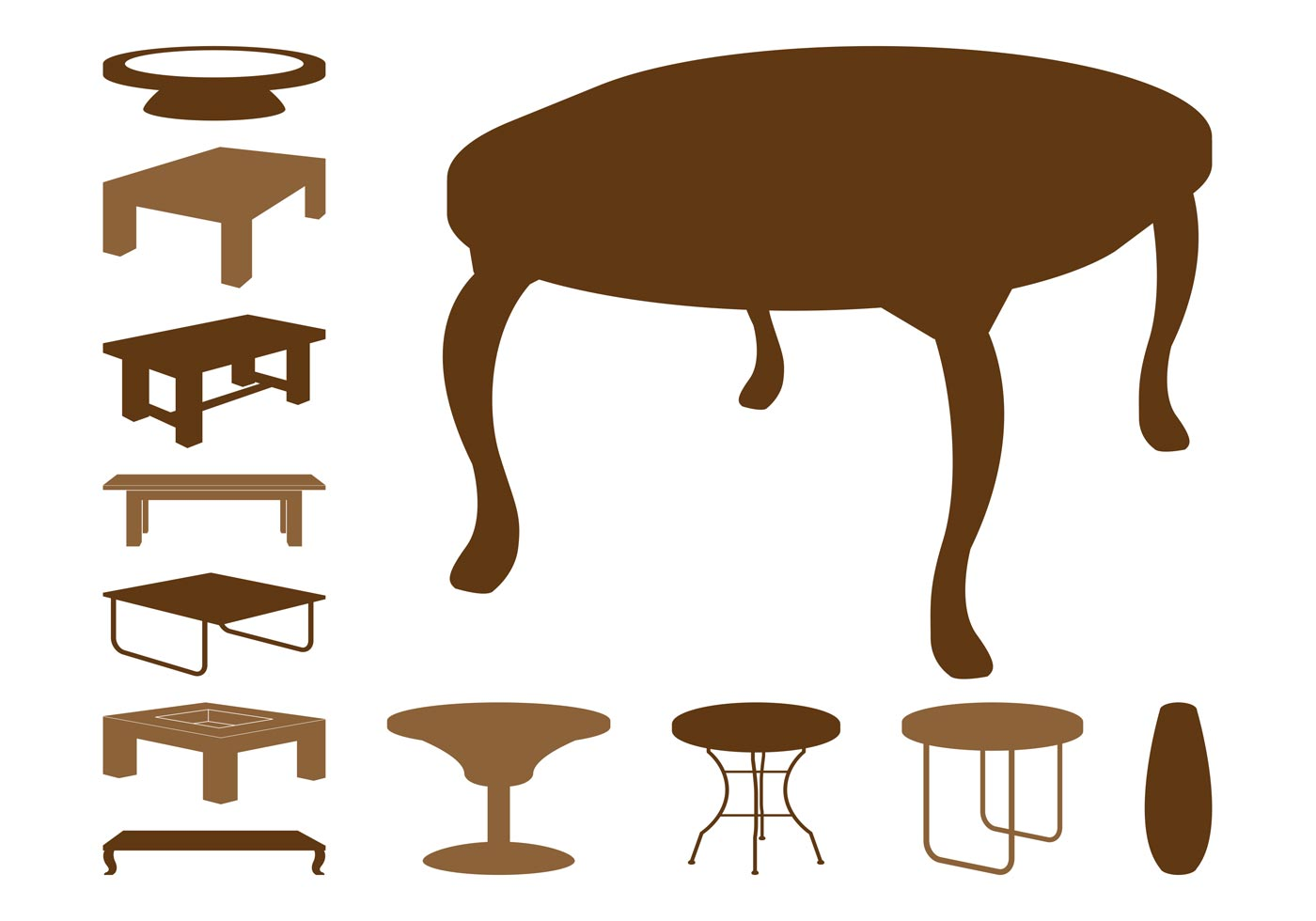 Table Silhouettes Download Free Vector Art Stock