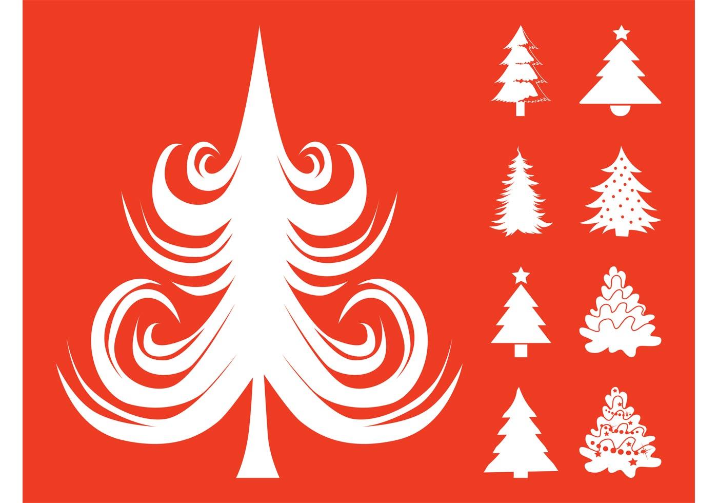 Christmas Trees Set Download Free Vector Art Stock