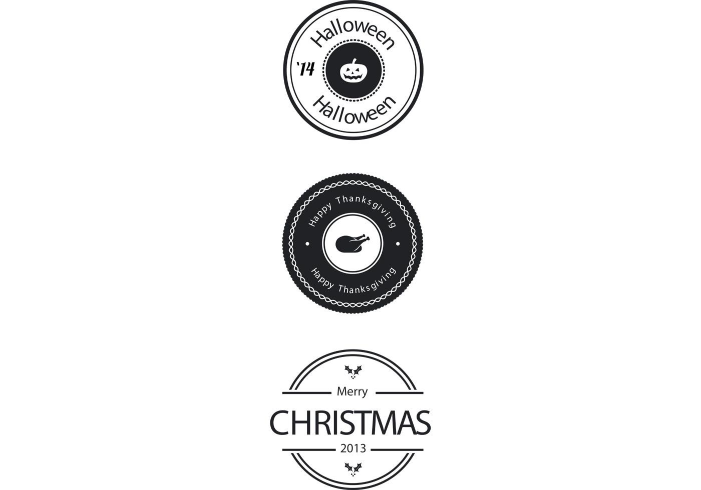 Free Holiday Badge Vectors