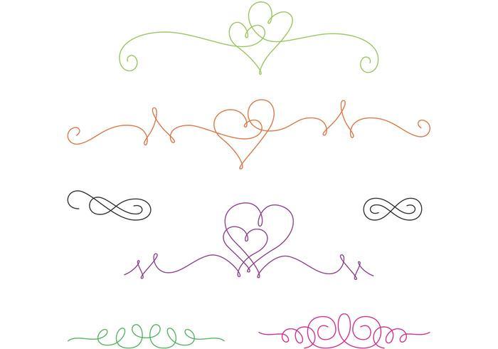 Curly Swirl Vector Hearts Download Free Vector Art
