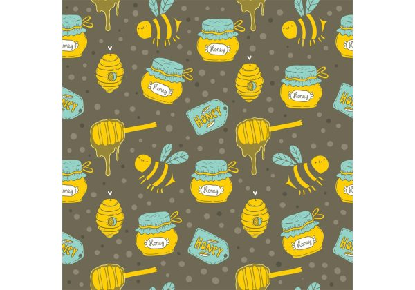 Free Honey Drip Vector Seamless Pattern Download Free