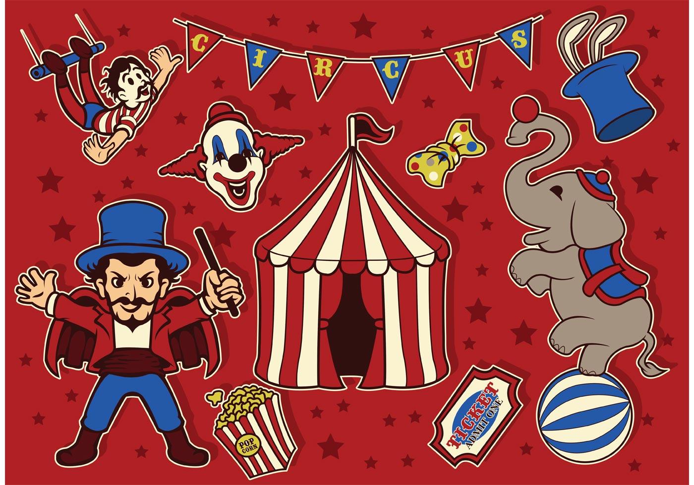 Vintage Circus Vectors Download Free Vector Art Stock
