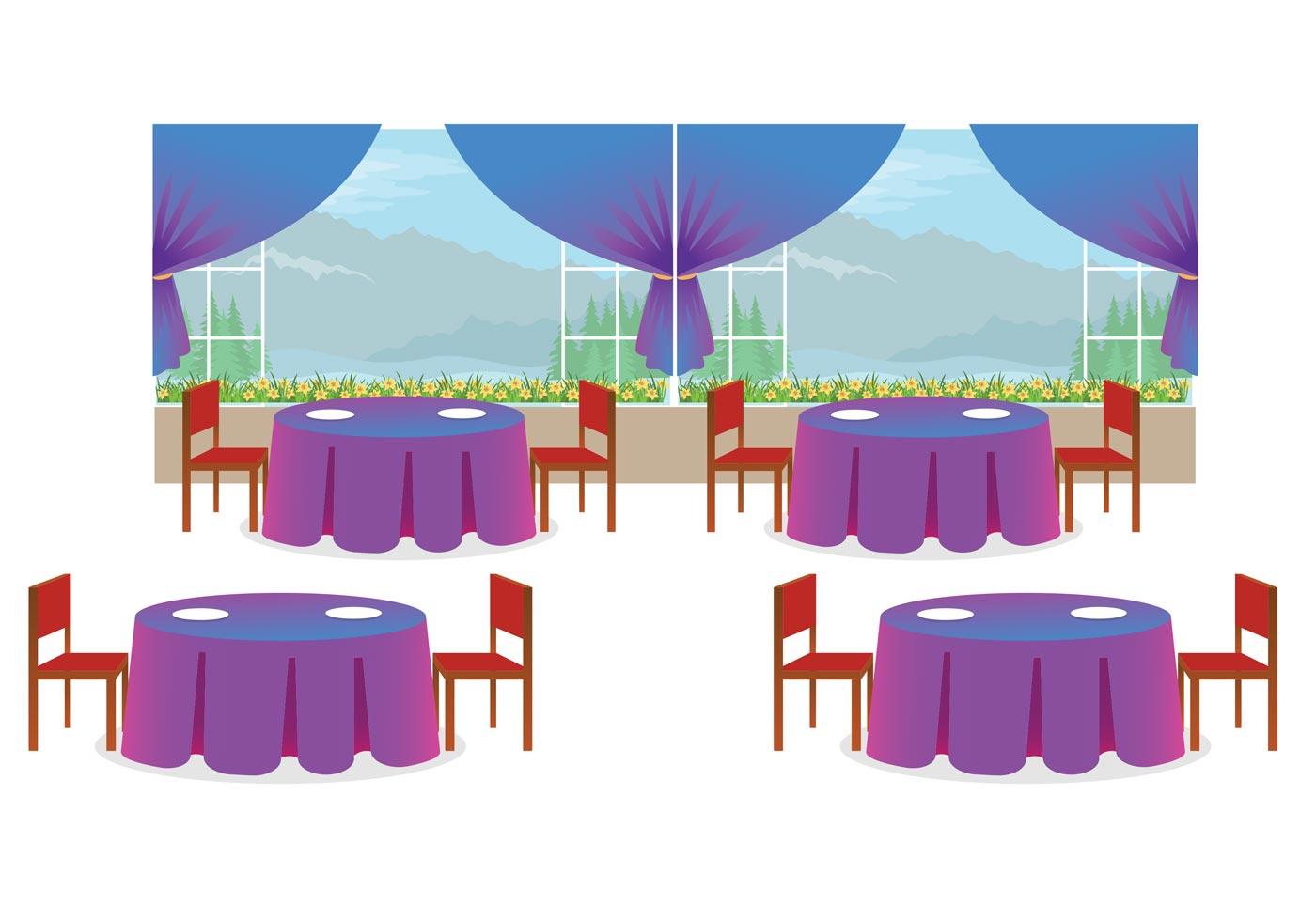 Restaurant Interior Vector Download Free Vector Art