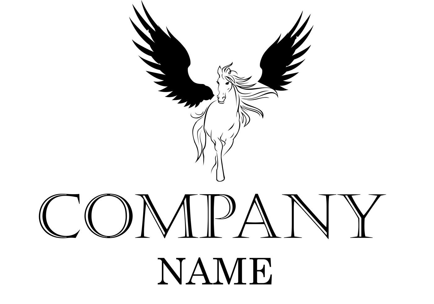 Winged Horse Logo Vector