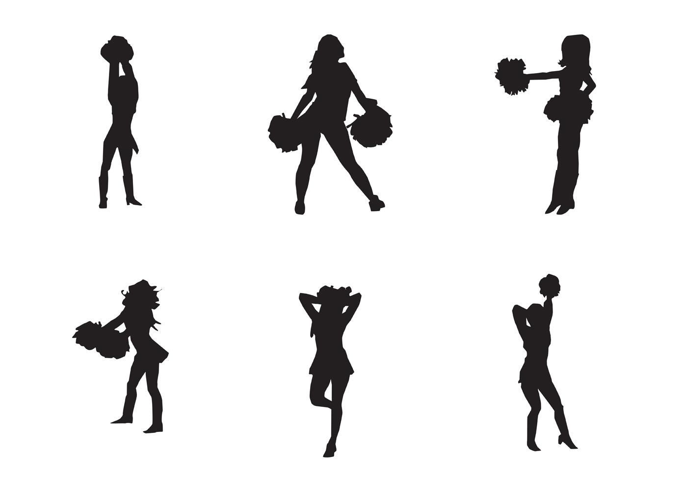 Free Vector Cheerleader Silhouette