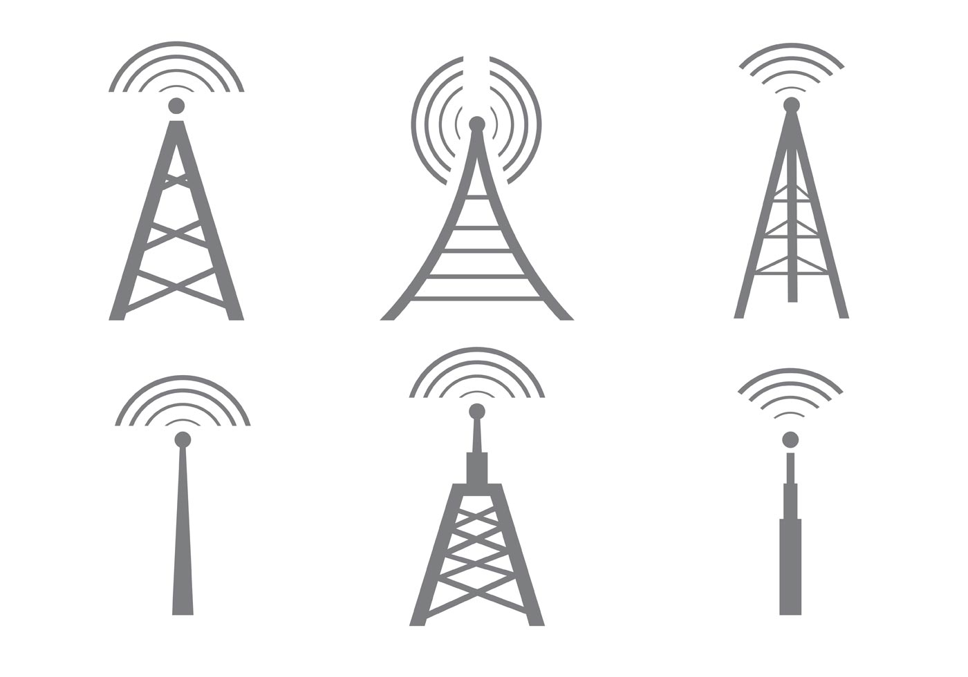 Mobile Tower Free Vector Art