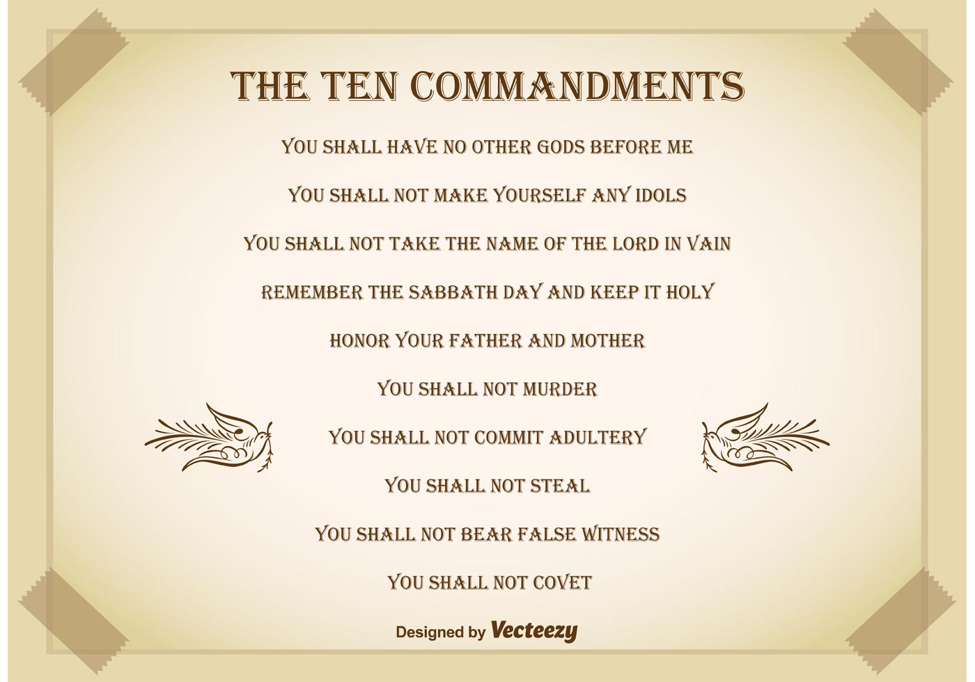 Ten Commandments Background