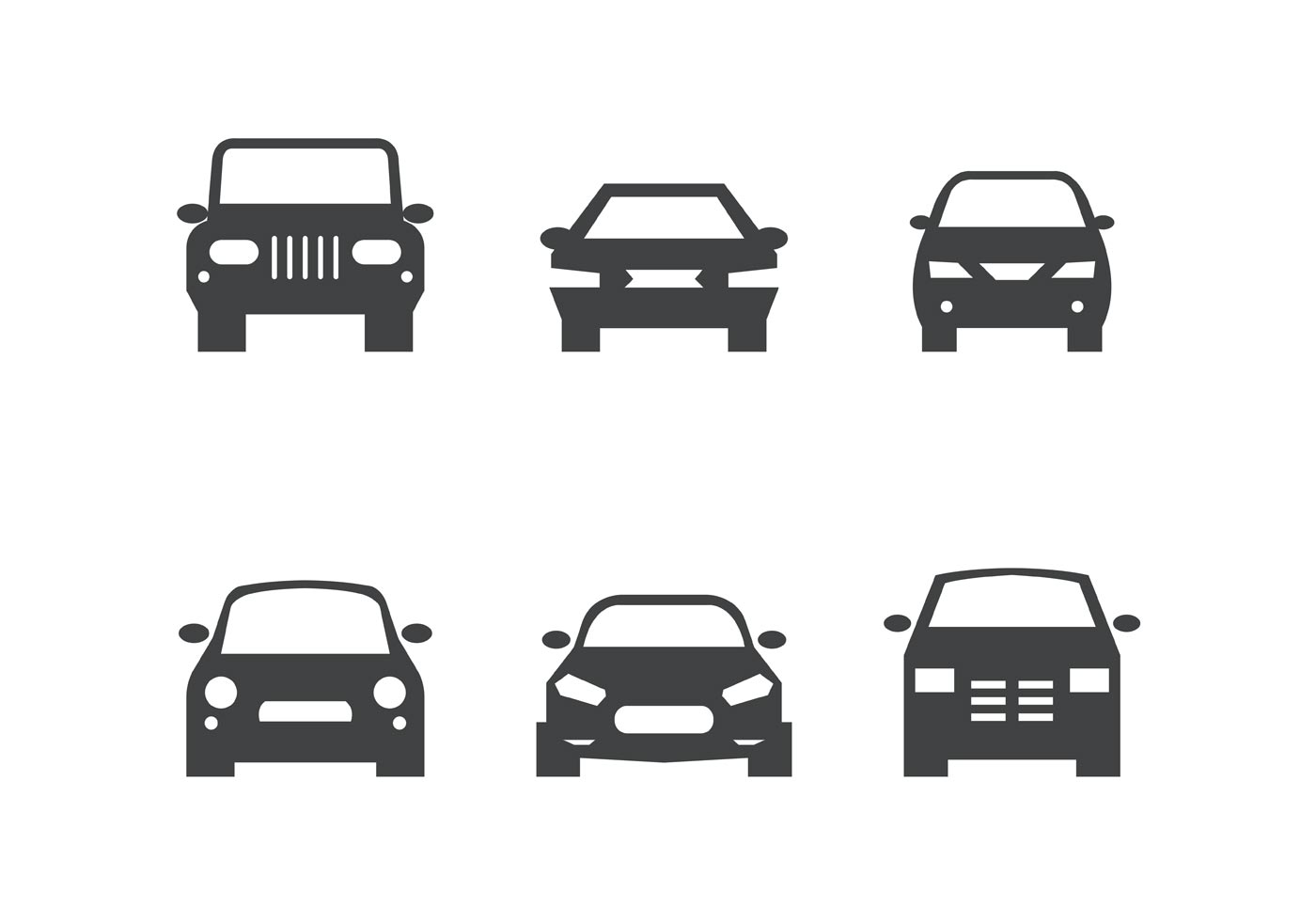 Car Silhouette Front Free Vector Art