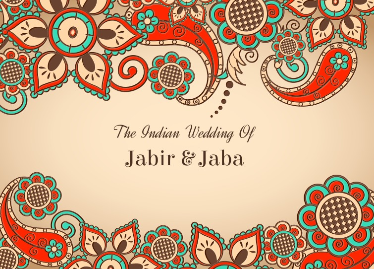 Free Vector Colorful Indian Wedding Card Download Free Vector Art Stock Graphics Amp Images