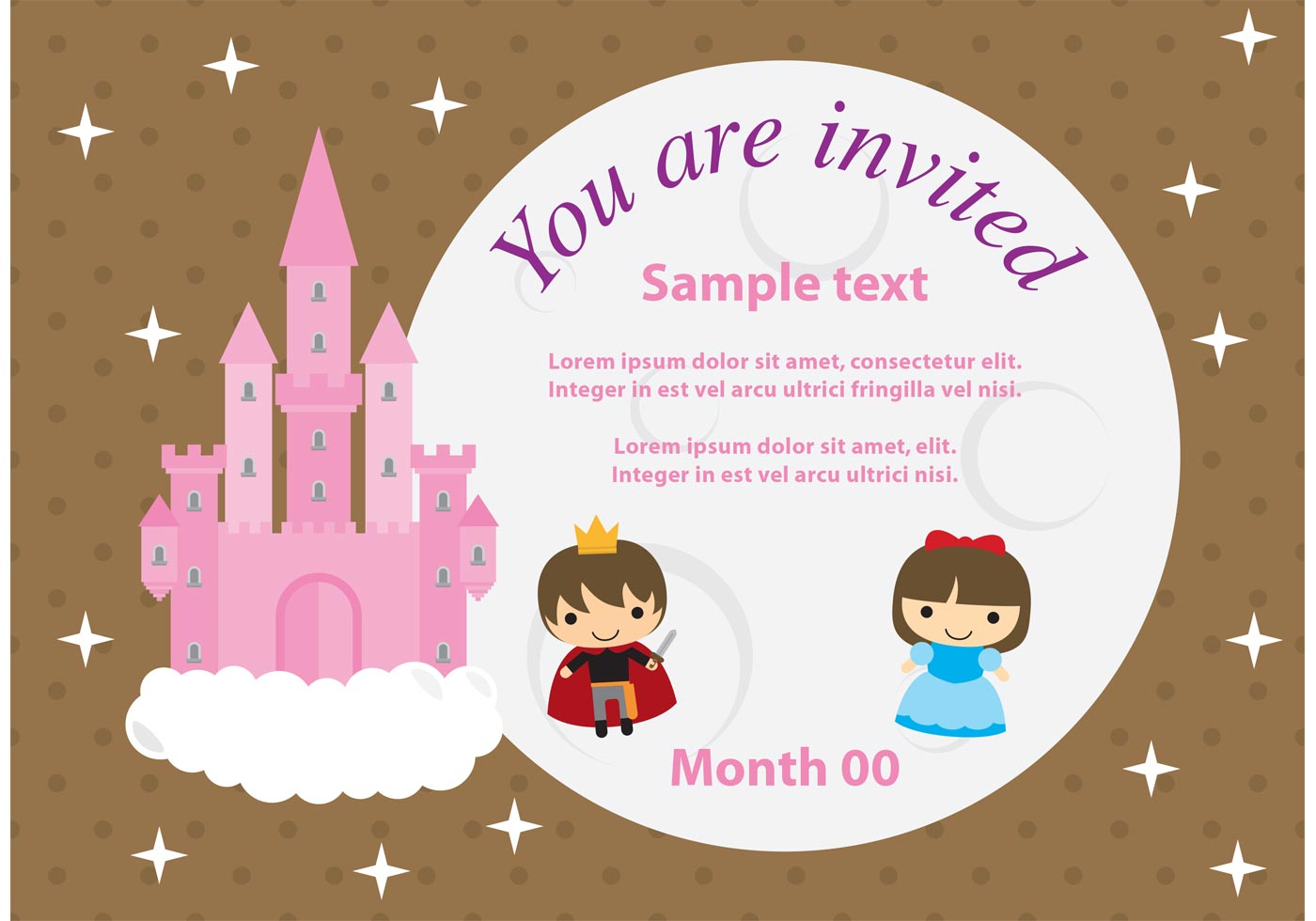 princess invitation free vector art
