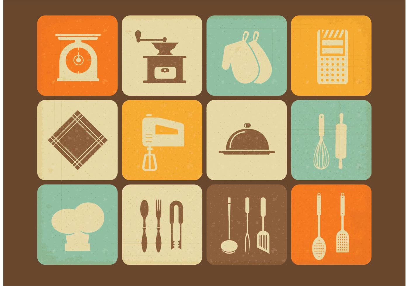 Free Vintage Kitchen Utensils Vector Icons Download Free