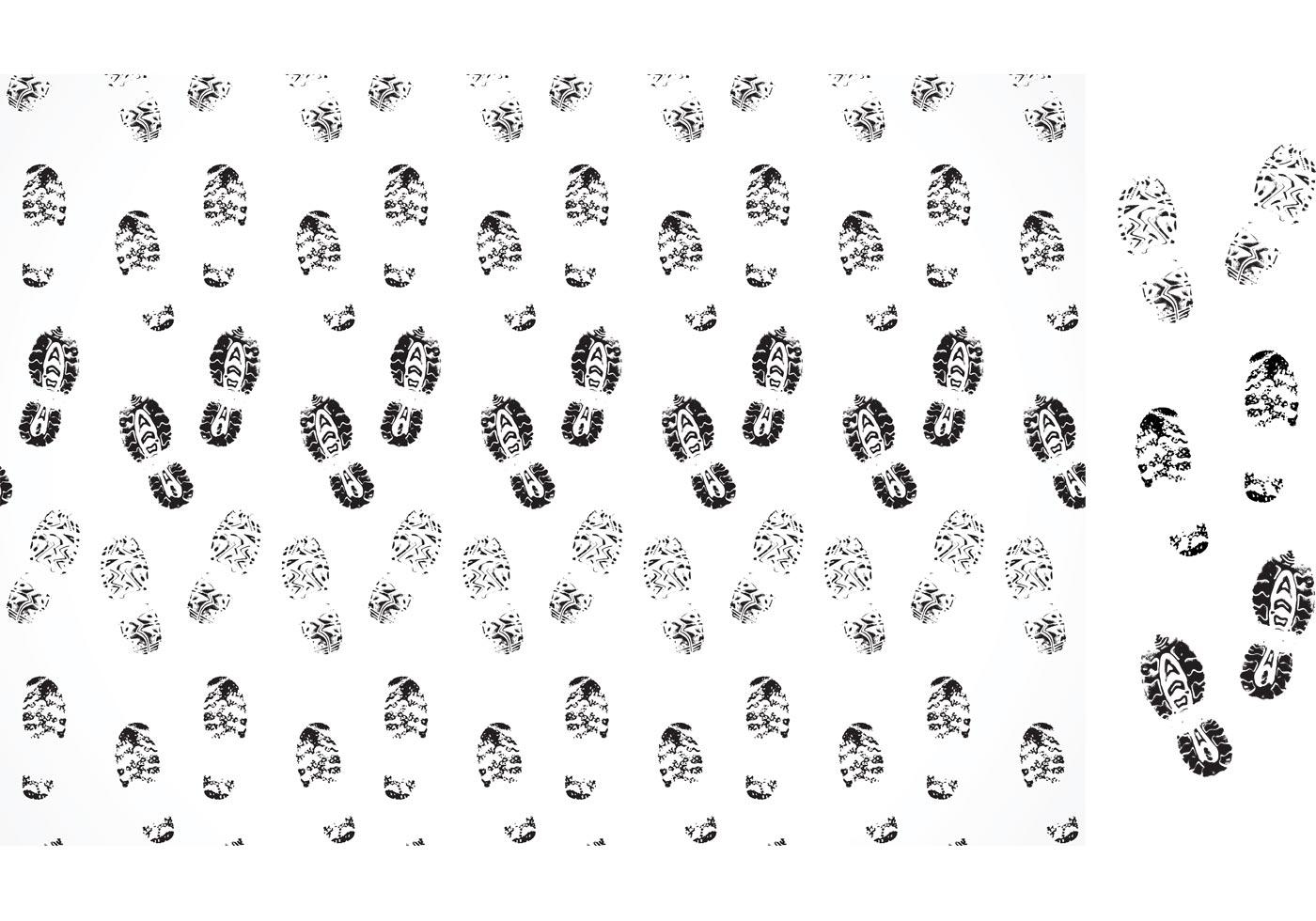 Vector Muddy Footprints Pattern