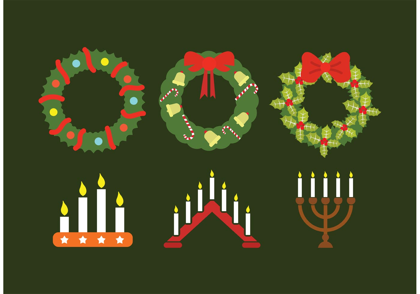 Advent Wreath Collection Download Free Vector Art Stock
