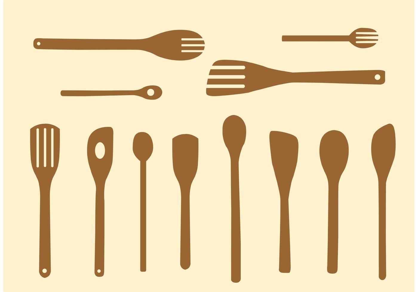 Simple Wooden Spoon Vectors Download Free Vector Art