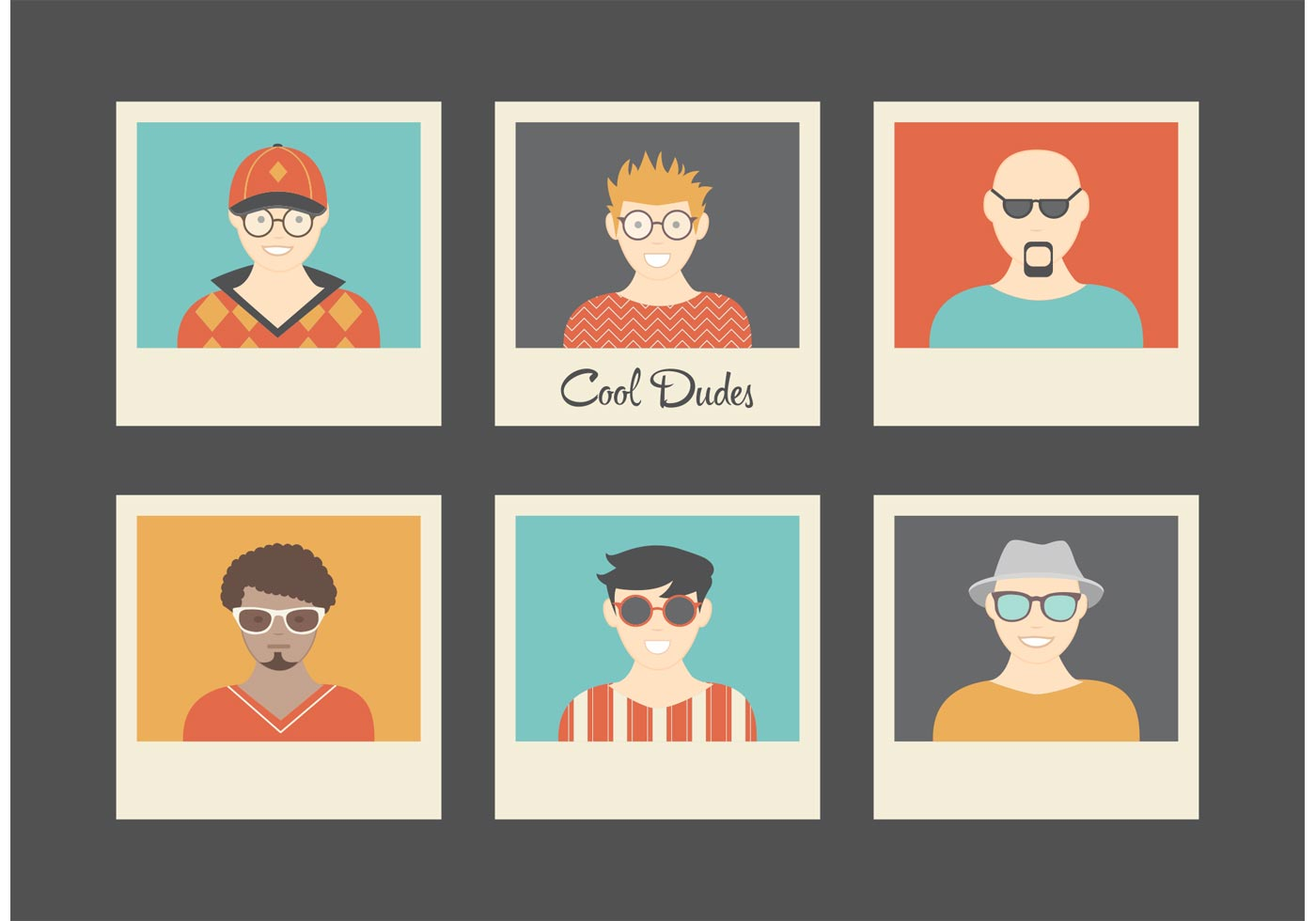 Free Cool Dudes Retro Vector Avatars Download Free