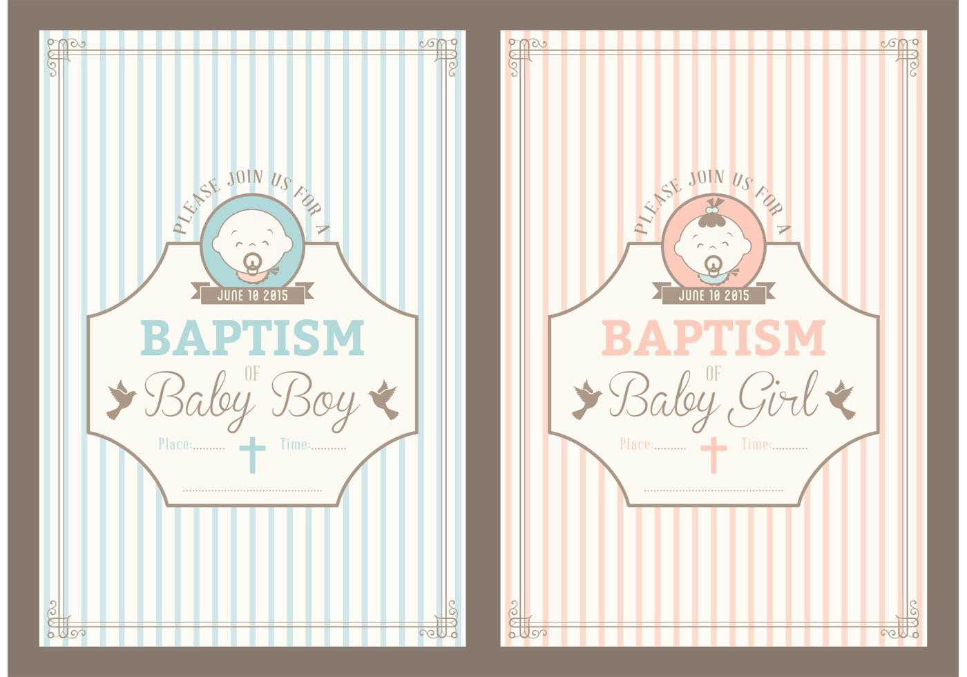 Baptismal Invitation Baby Boy