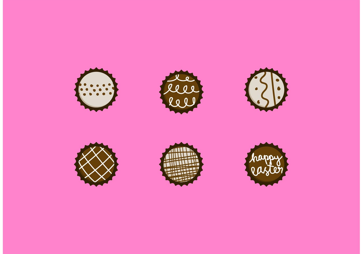 Chocolate Truffle Vector Designs Set Download Free