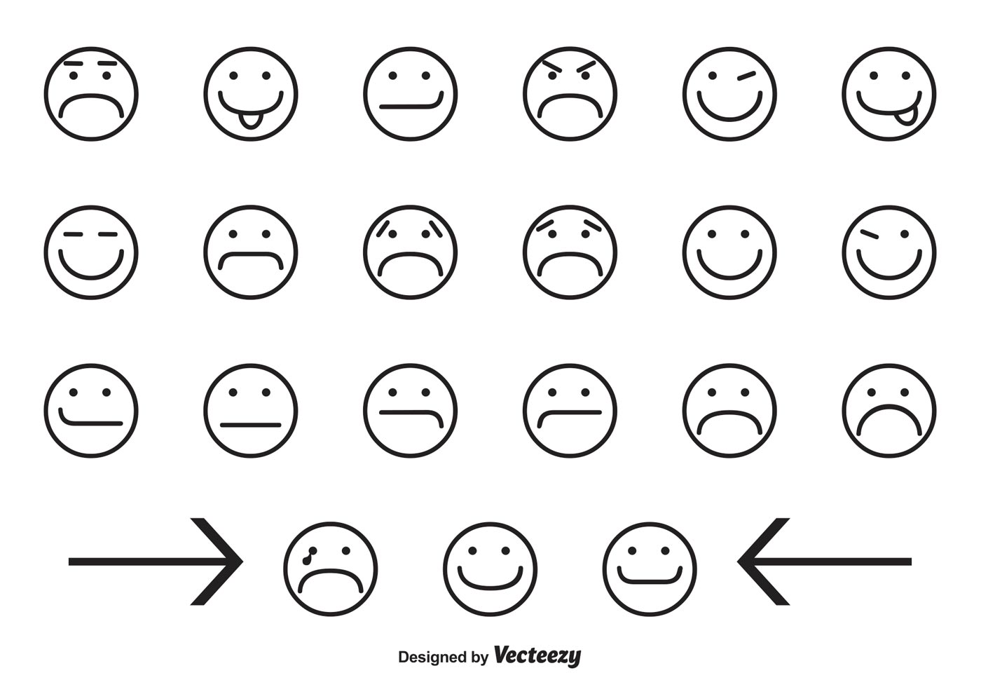 Assorted Smiley Face Icons