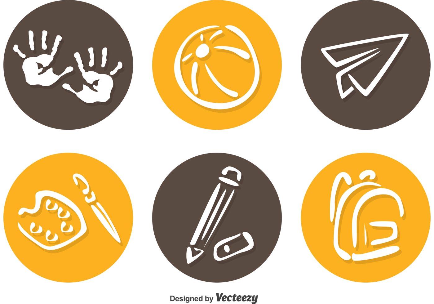 Preschool Circle Icons Vector Download Free Vector Art