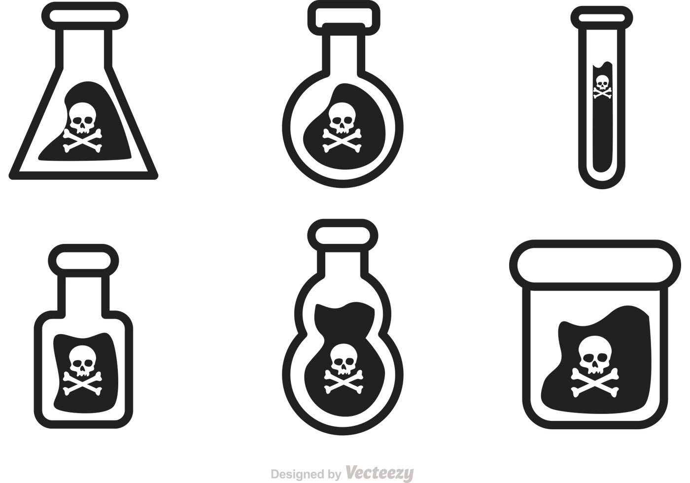 Black Poison Vector Icons