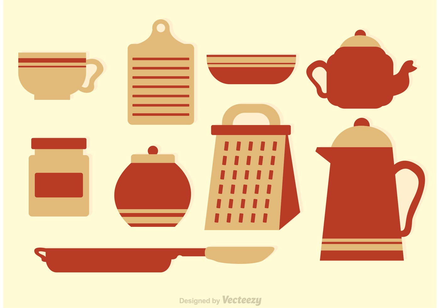 Vintage Kitchen Vector Icons Download Free Vector Art