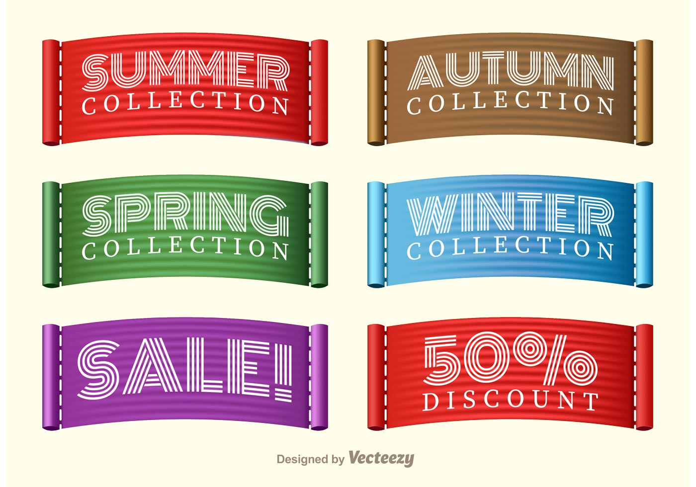 Stitched Seasons Sale Collection Label Vectors