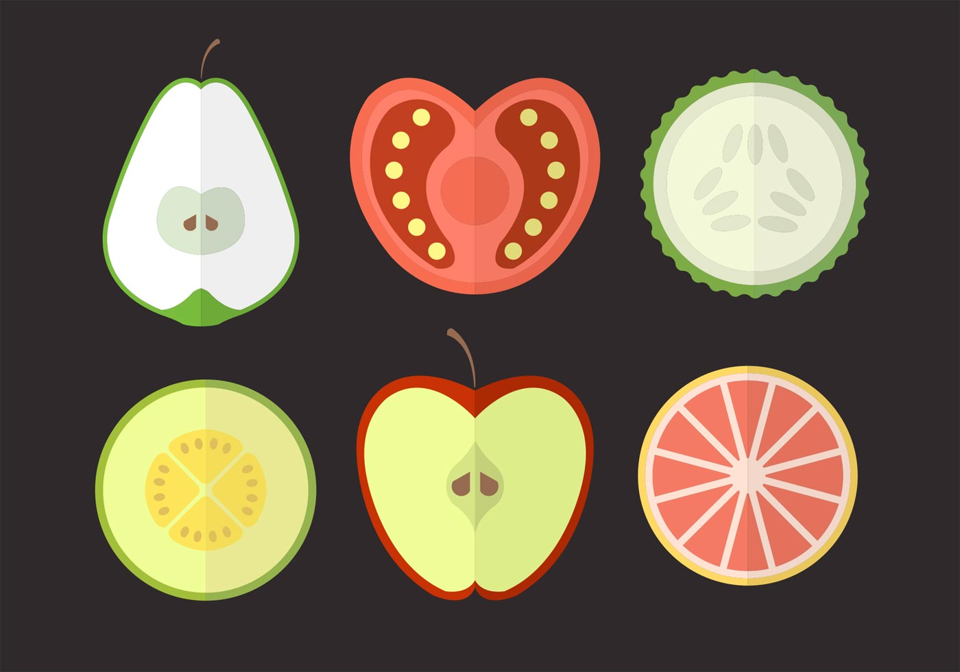 See cute apple stock video clips. Fruits and Vegetables 91653 Vector Art at Vecteezy