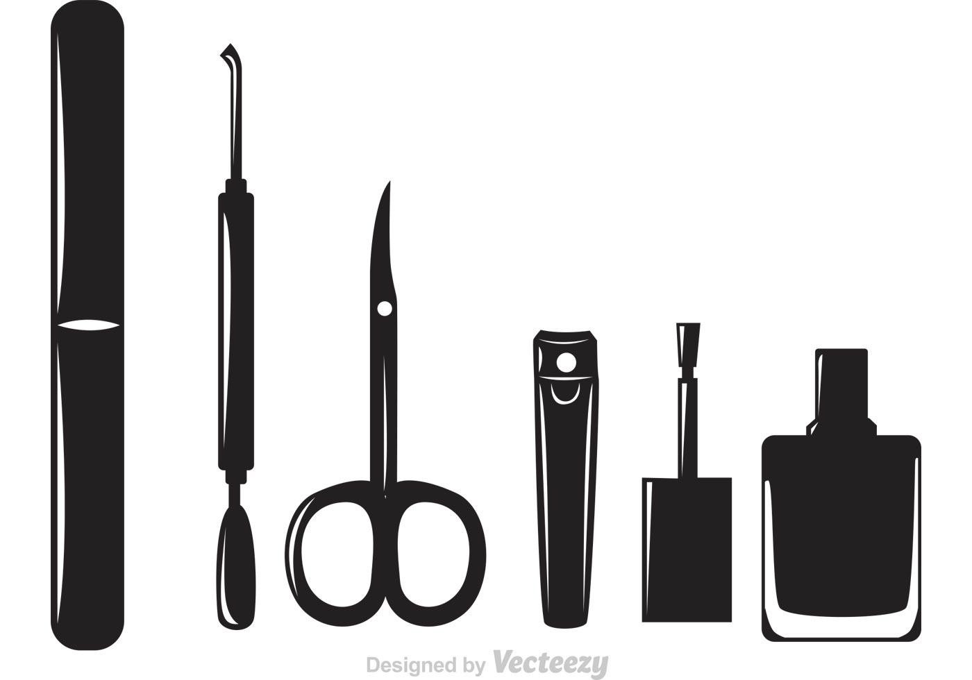 Black Manicure Pedicure Icons
