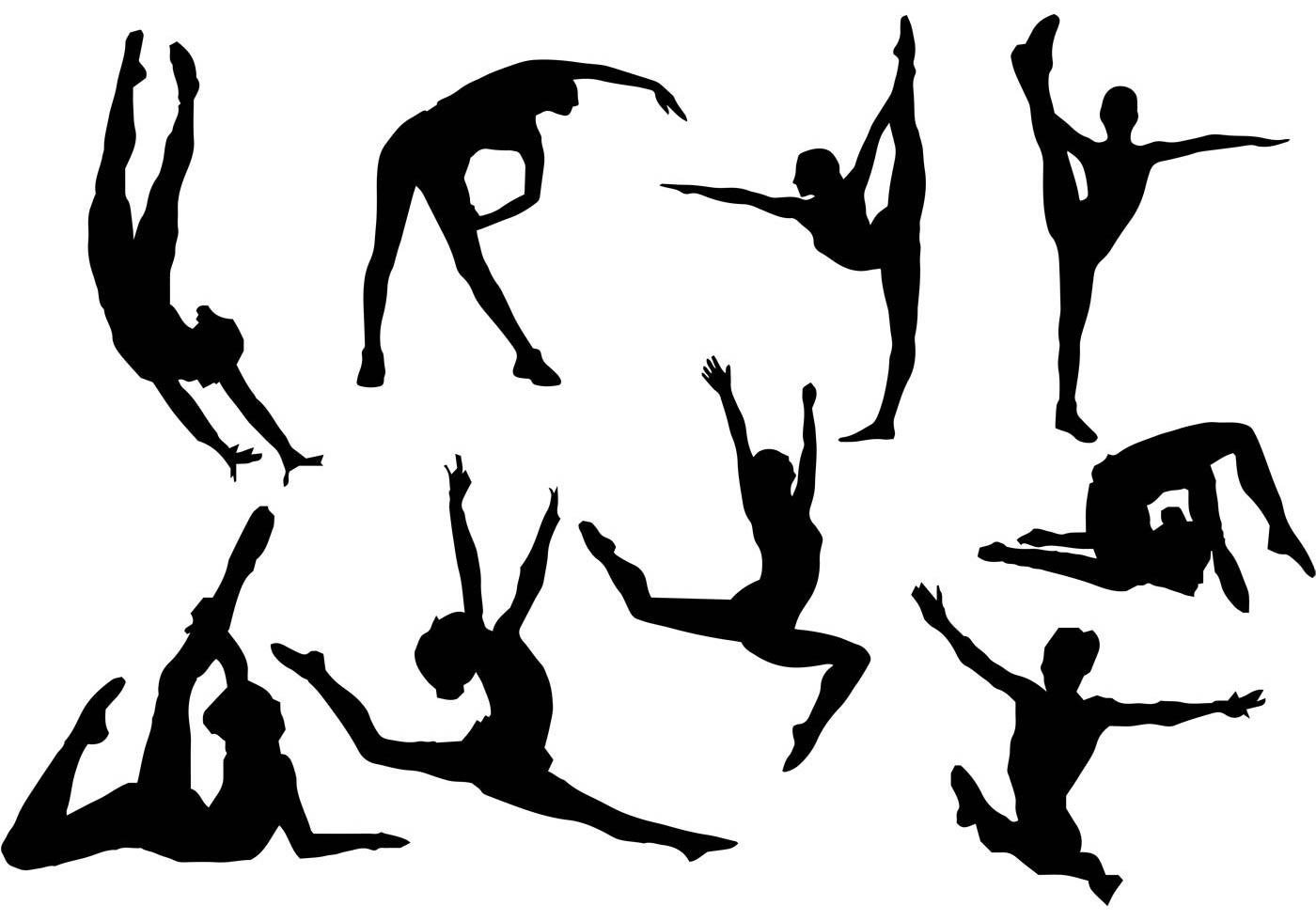Free Gymnastics Silhouette Vector