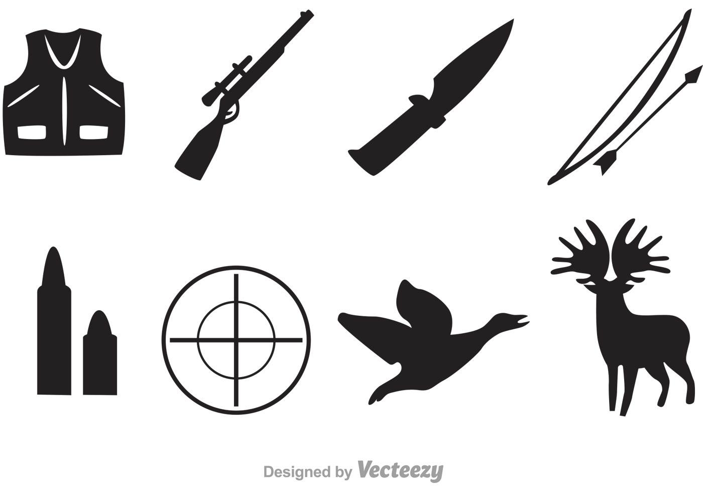 Vector Hunter Black Icons