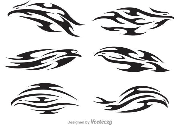 Hawk Tribal Logo Vectors Download Free Vector Art Stock