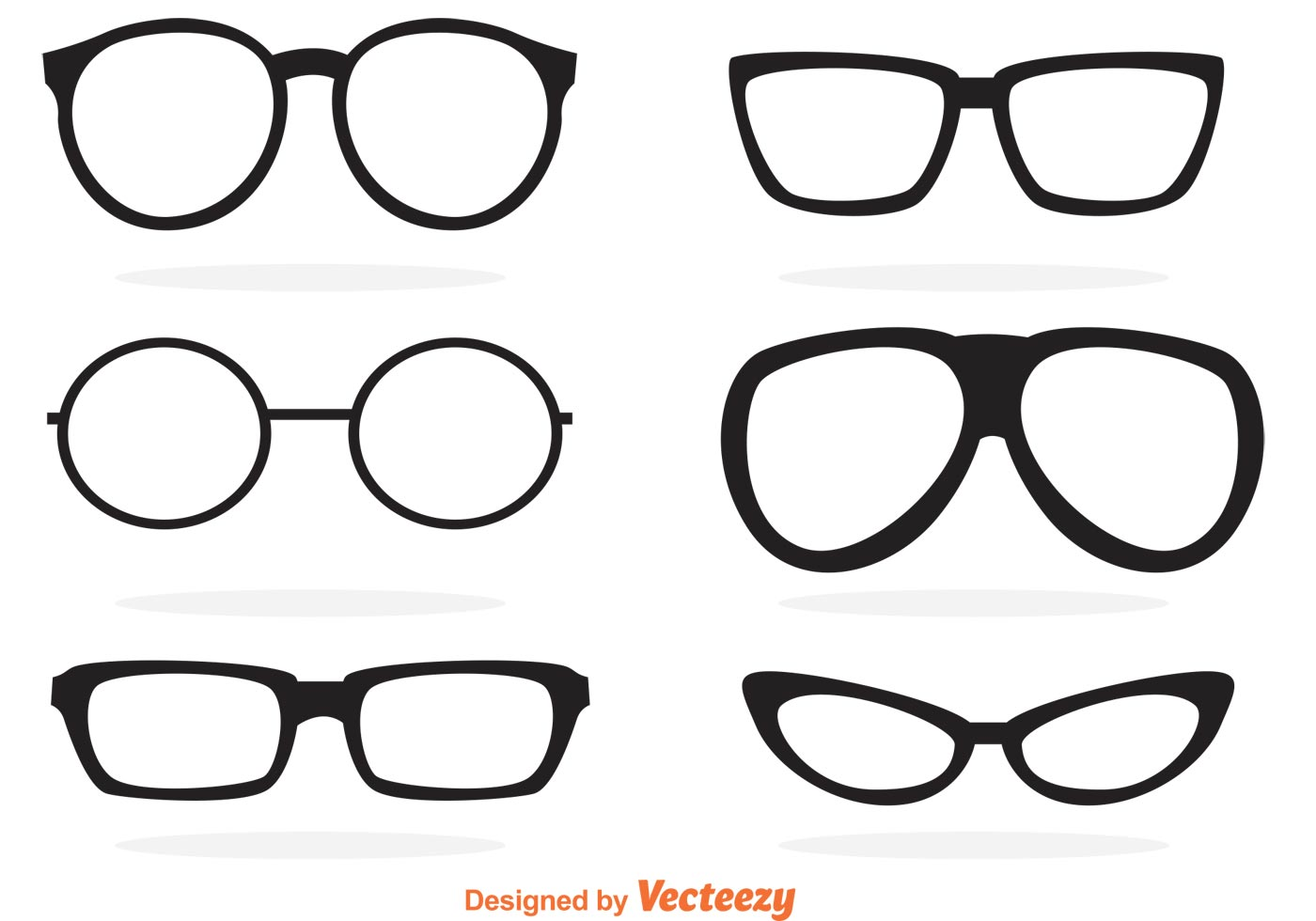 Glasses Free Vector Art