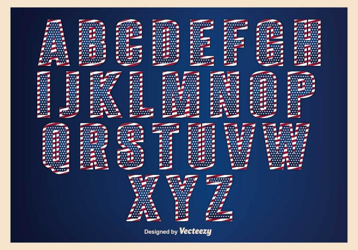 Download Patriotic Alphabet Set - Download Free Vector Art, Stock ...