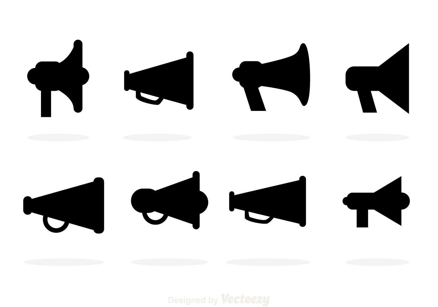 Black Megaphone Vector Icons
