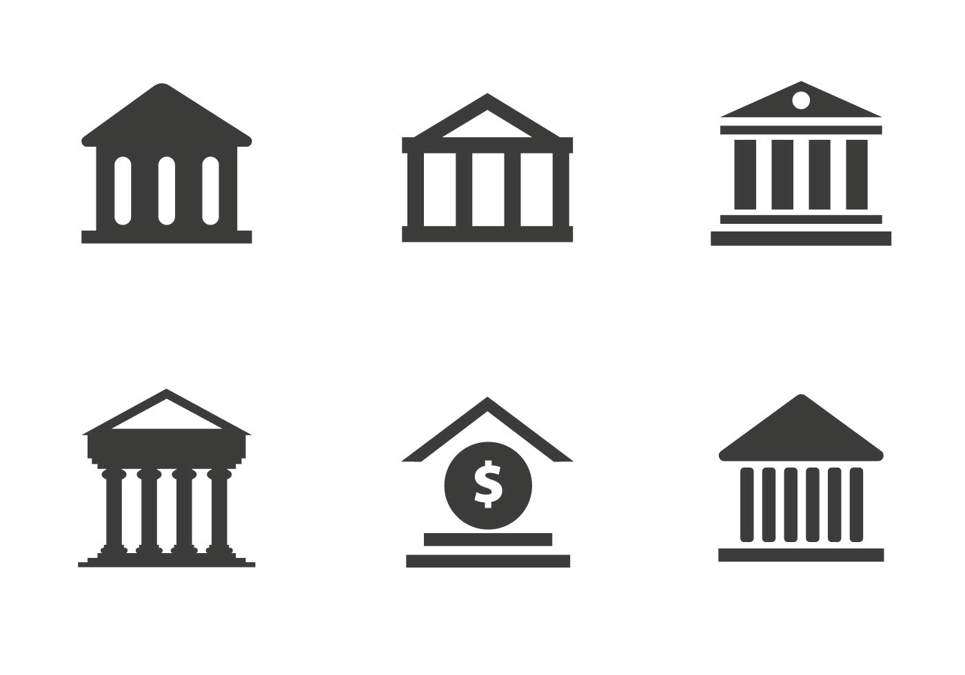 Bank Icon Free Vector Art