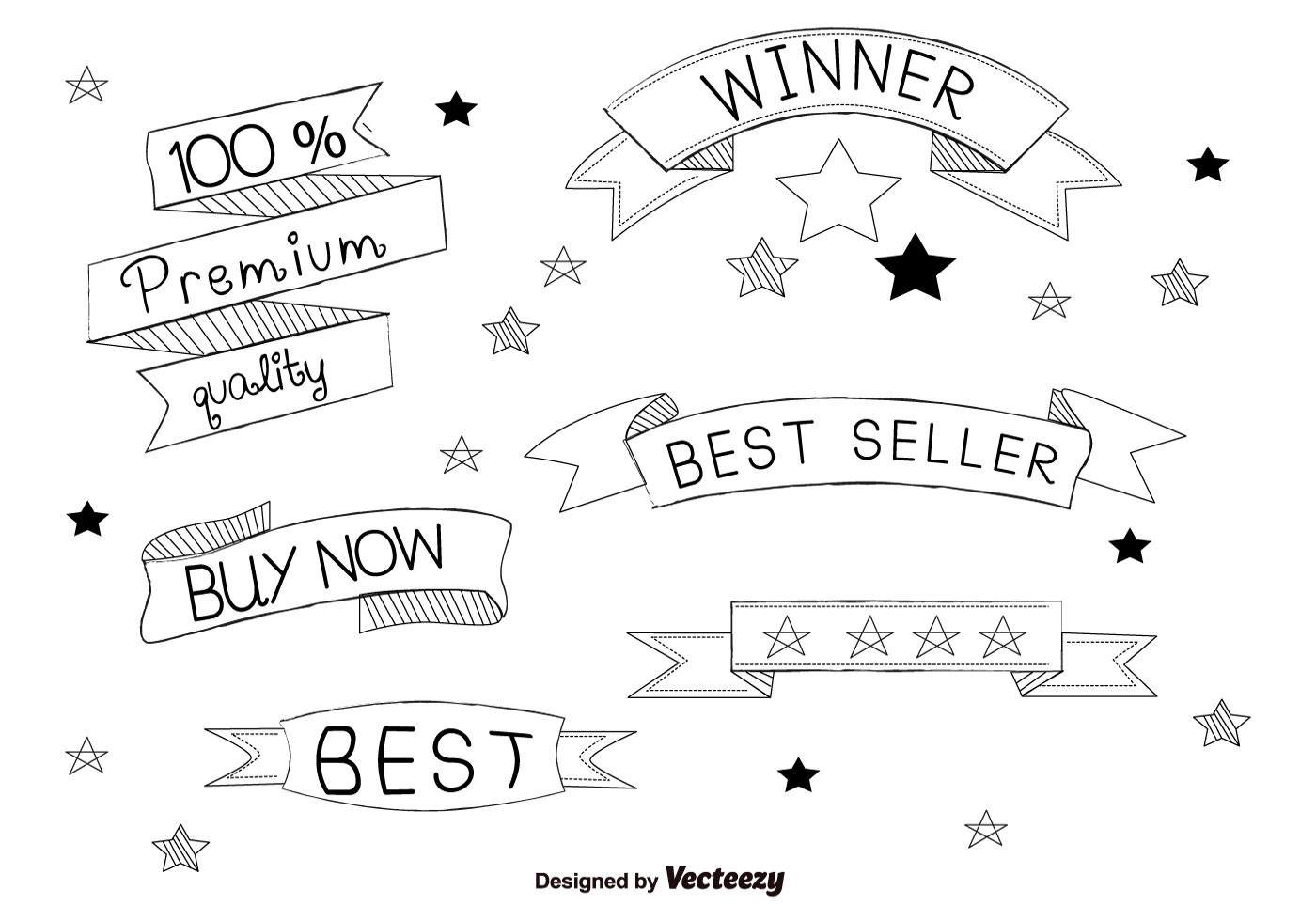 Hand Drawn Best Seller Labels