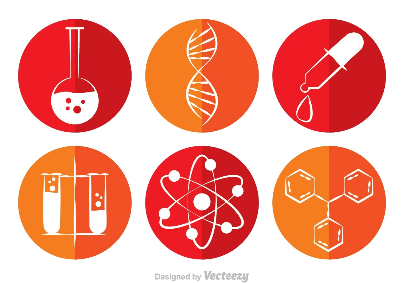 Chemistry Circle Vector Icons Download Free Vector Art