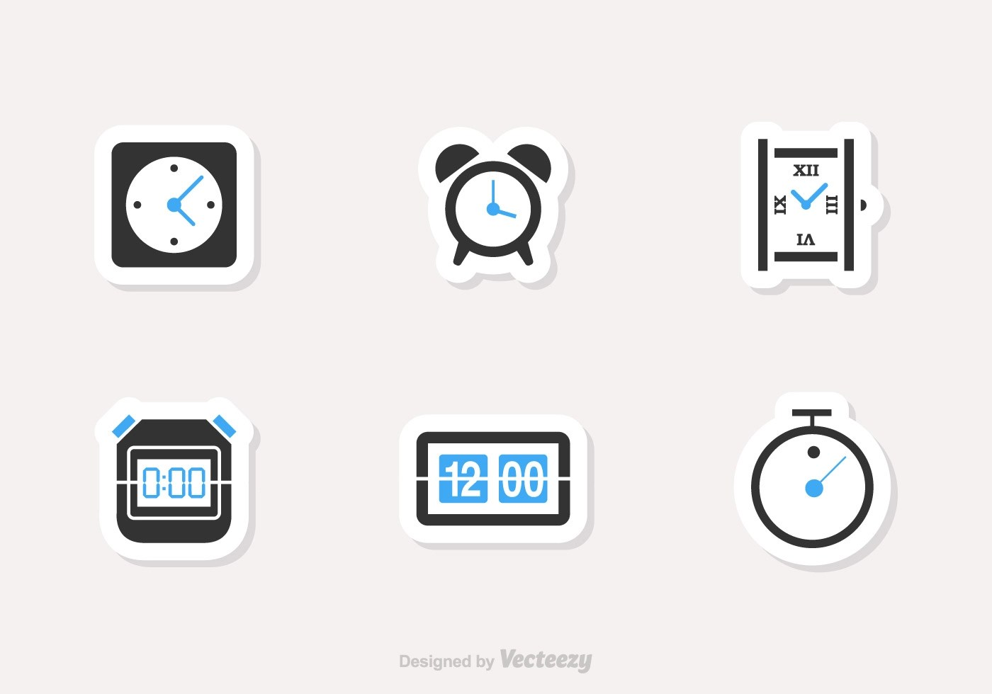 Time And Clock Vector Icons