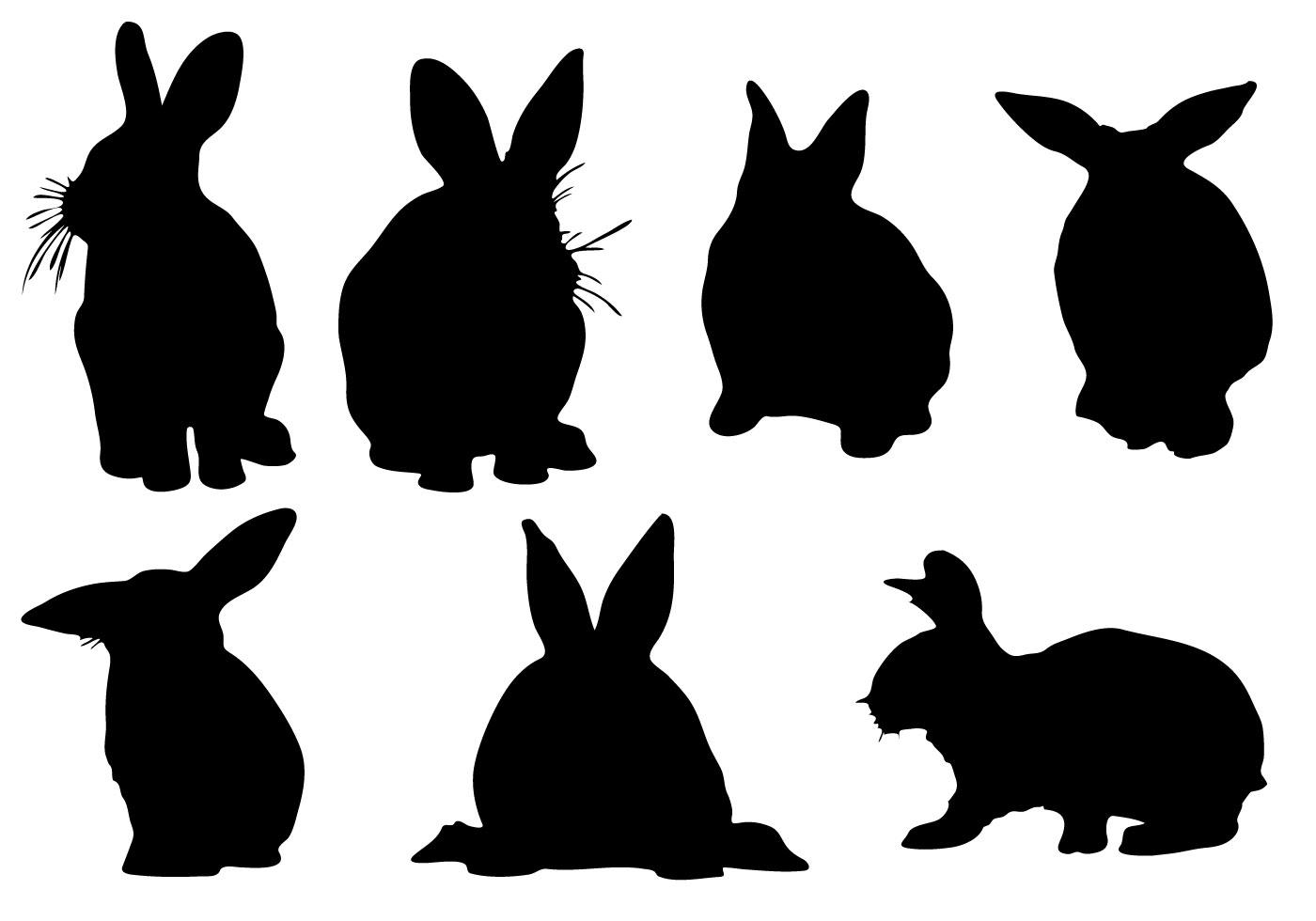 Free Rabbit Silhouette Vector Download Free Vector Art