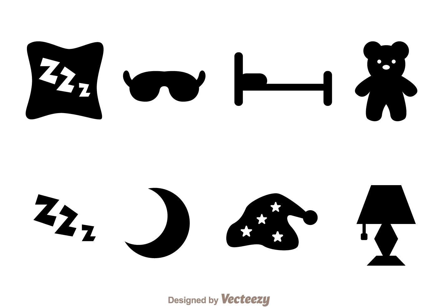 Sleep Black Icons
