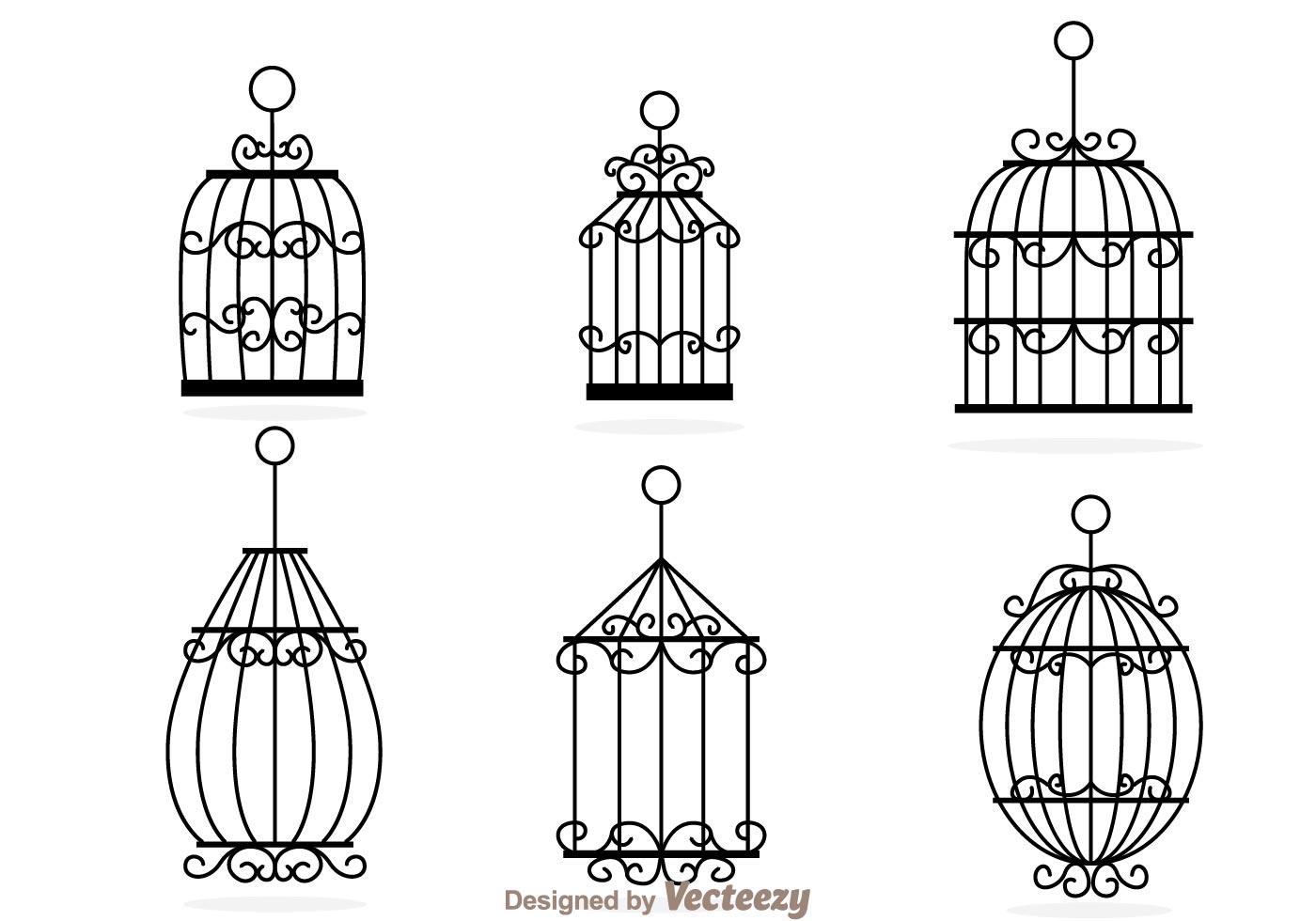Decorative Bird Cage Vectors