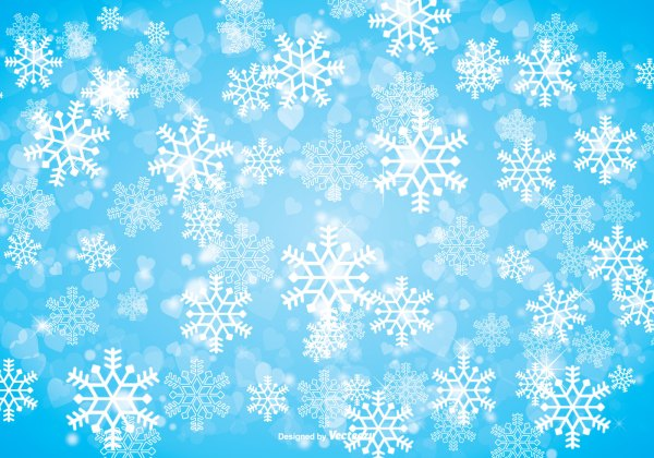 Winter Snowflake Background Download Free Vector Art