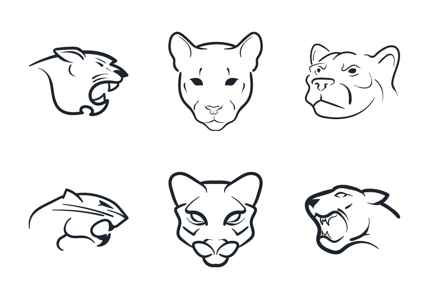 Free Cougar Mascot Vector Illustration