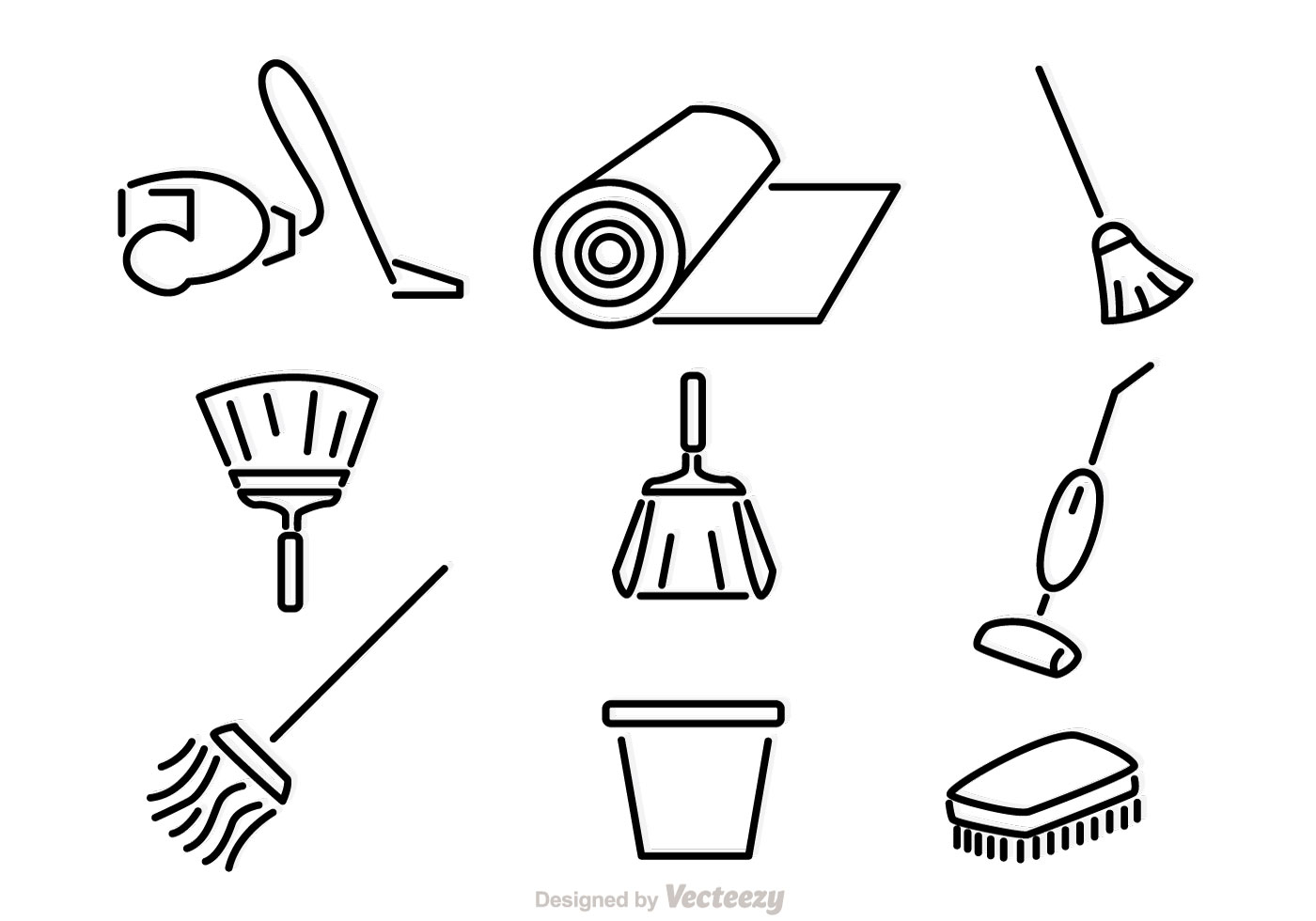 Home Cleaning Vector Icons