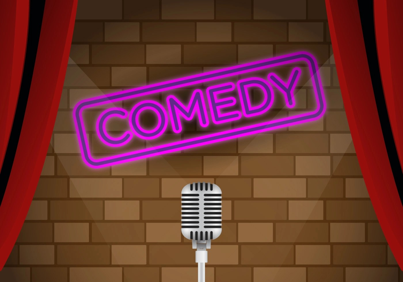 Vector Comedy Club Stage Download Free Vector Art Stock