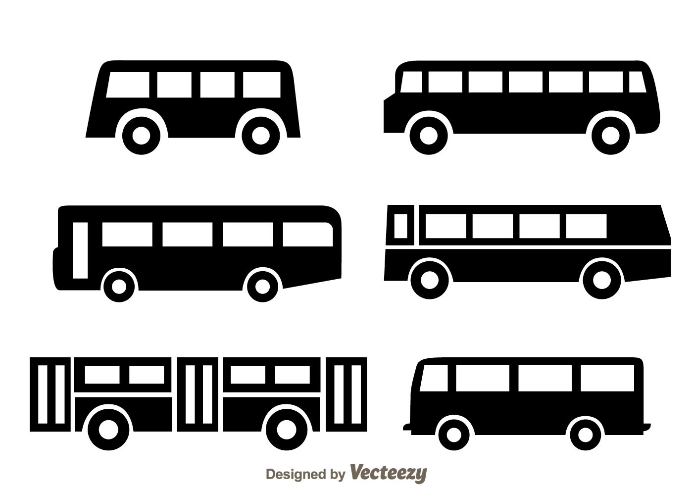 Bus Black Icons Vector